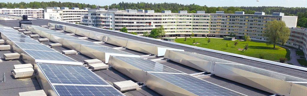Solceller till bostadsrättsförening