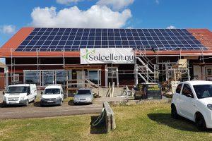 Solcellen installation