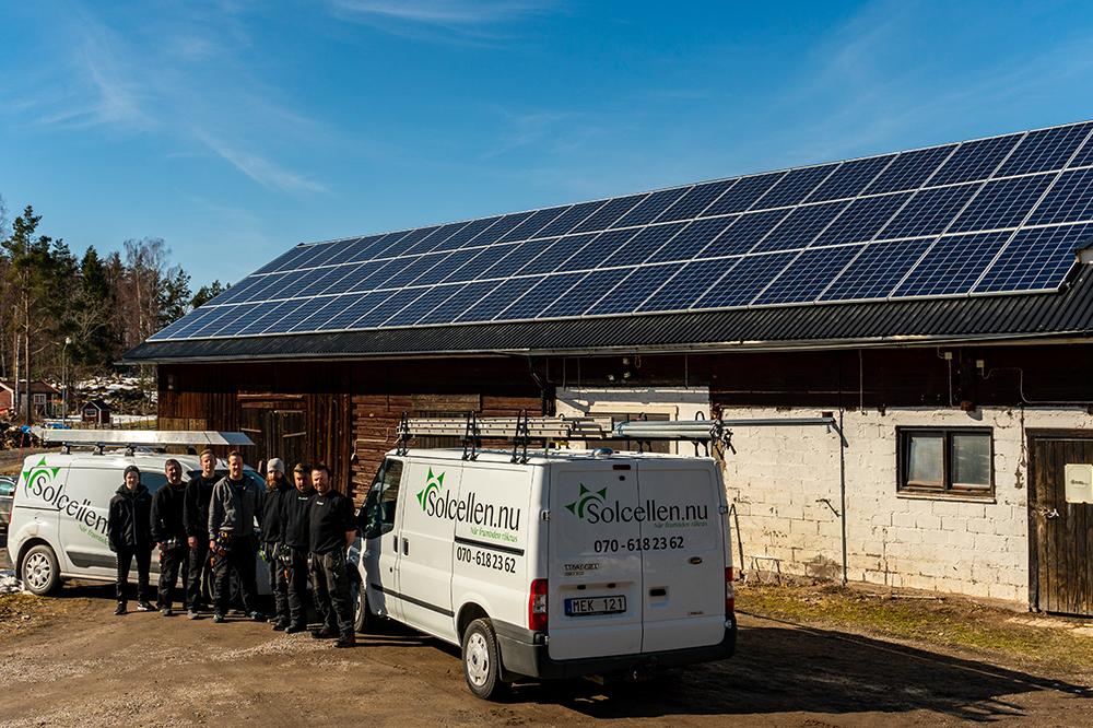 Solceller installation lantbruk